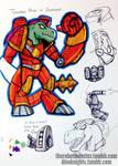DinoKnights Sketches 16 - Tyrannus Khan in Gunshow