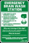 Emergency Brain Wash Station Signage