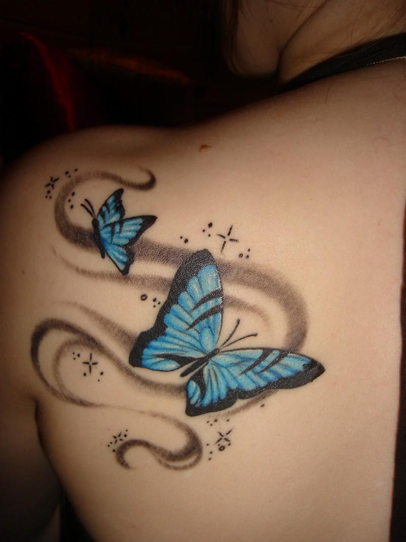 Тату 3д бабочка фото
