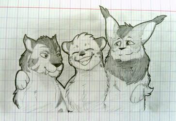 Three Friends by NissaFY