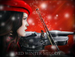Red Winter Melody by Doucesse