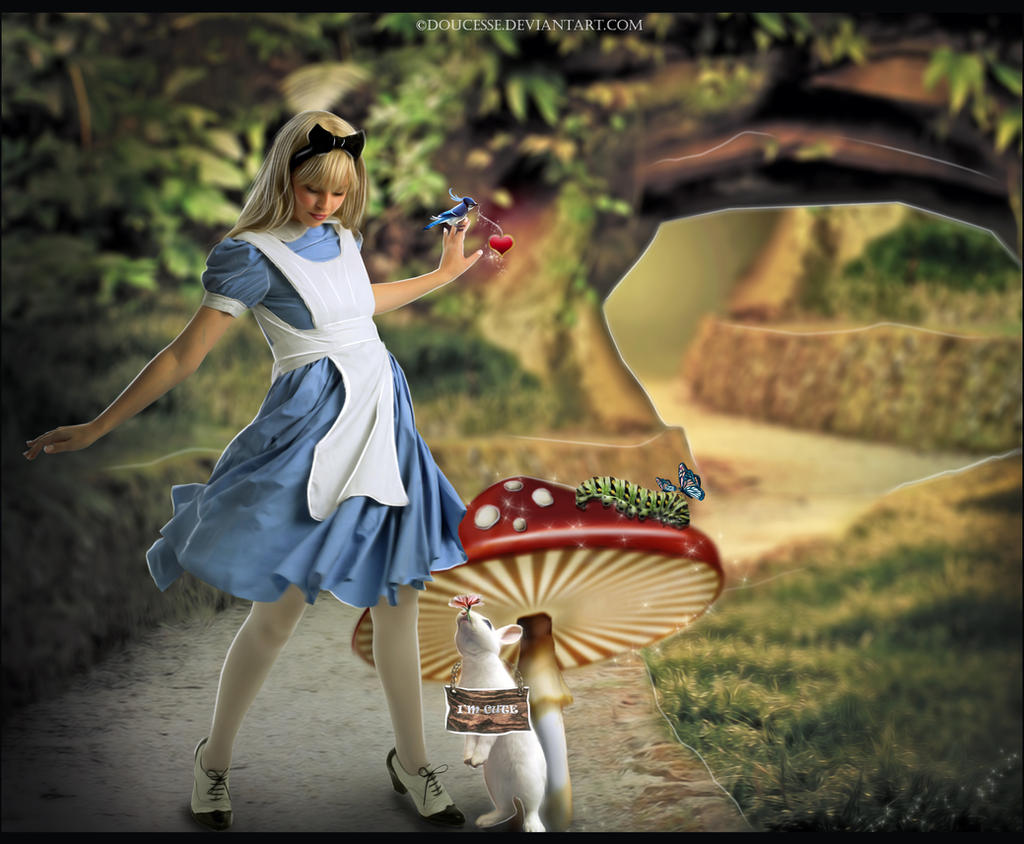 Alice and the White Rabbit by Doucesse