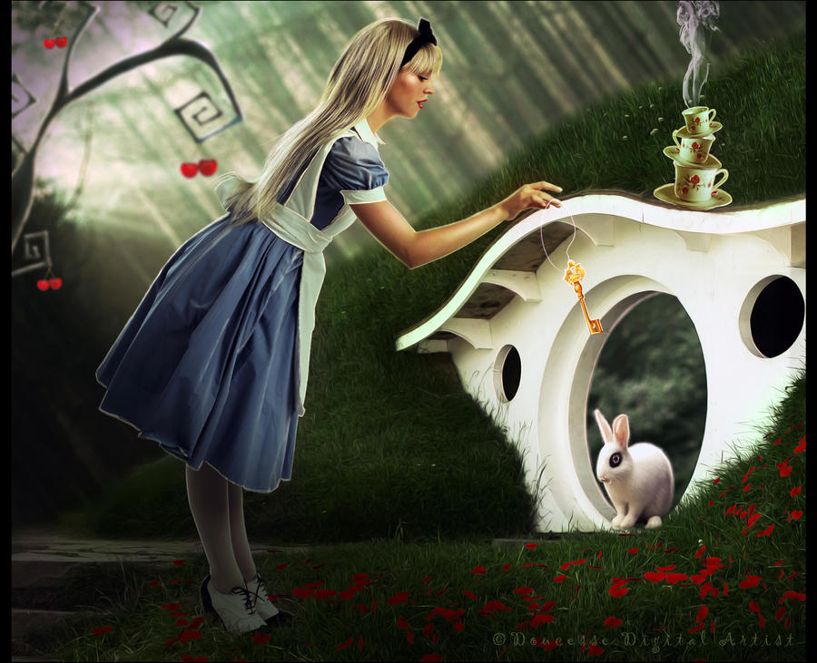 Alice and The Rabbit by Doucesse