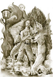 My Wolf and I. by glowcat