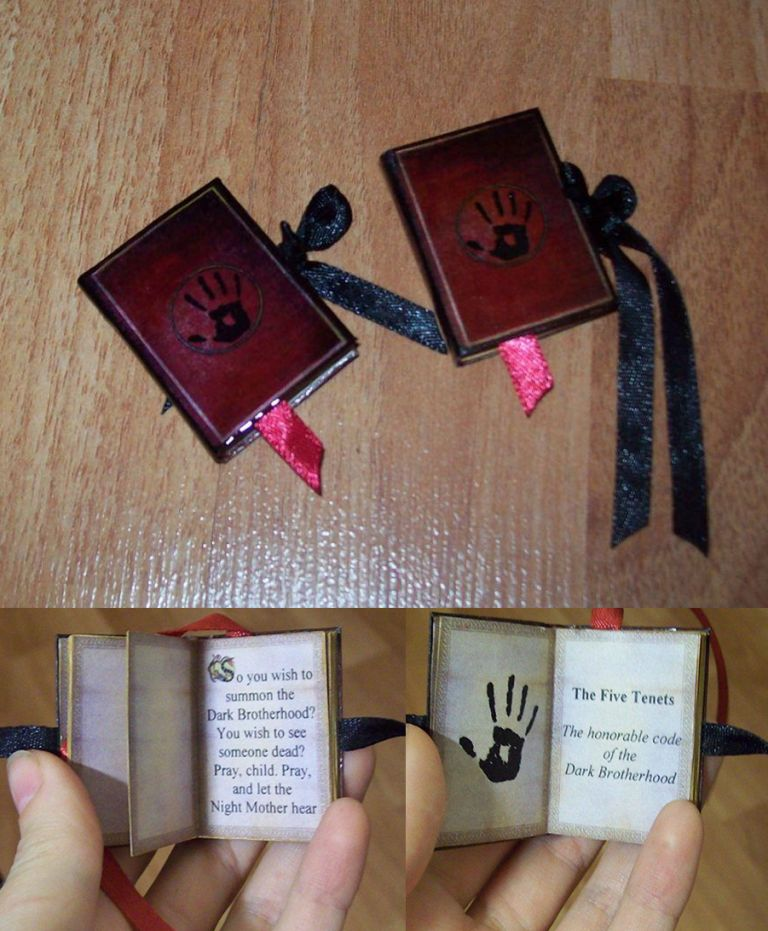 TES art: mini book (3x4) - 'Dark Brotherhood' v.2 by Sereniti-Dragonheart