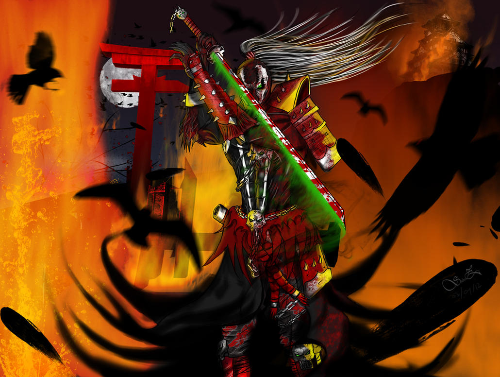 Samurai Spawn - Demon Samurai by ShabaazKhan