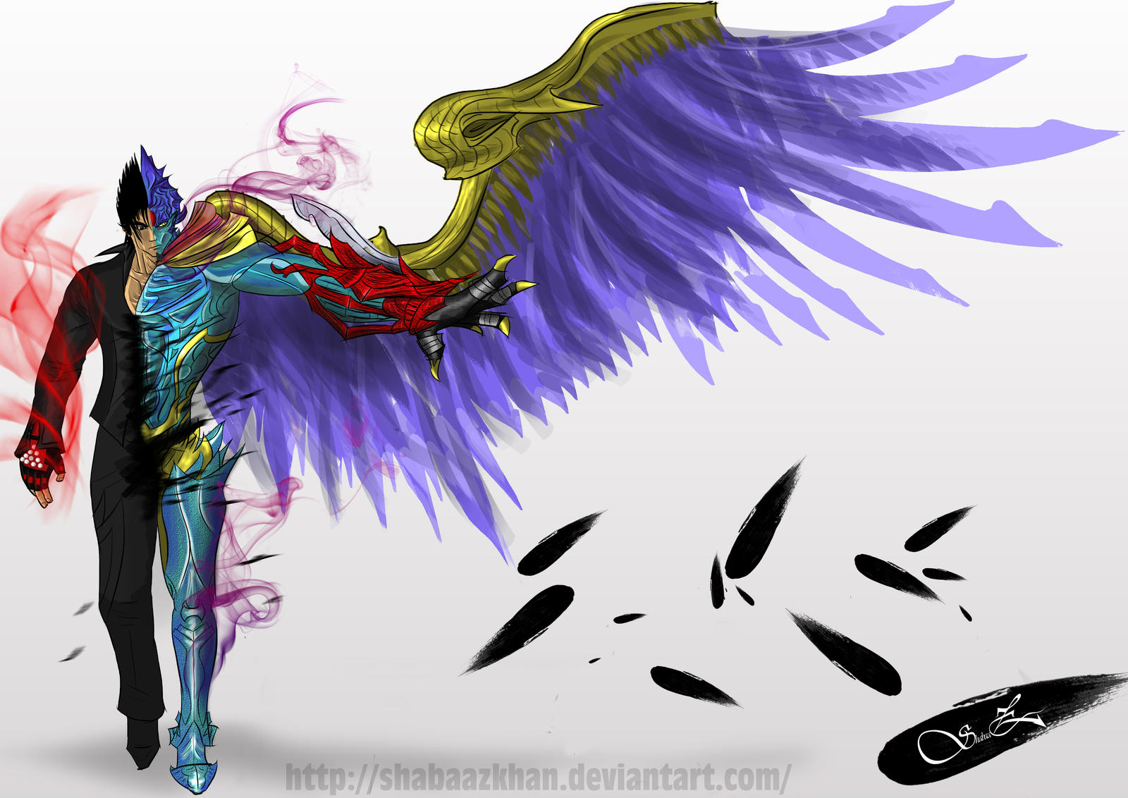 Jin Blood Vengeance Devil Hybrid Transformation By Shabaazkhan On