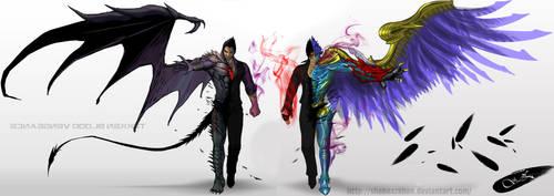 Devil Kazuya Devil Jin Twin Vengeance by ShabaazKhan