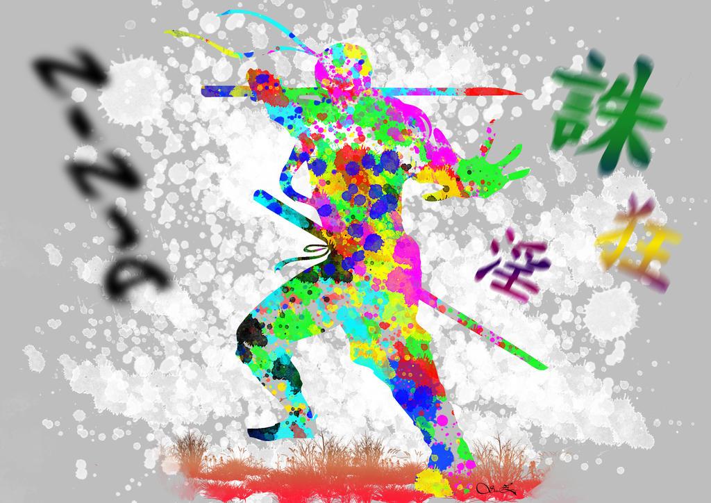 Splatter ninja Art by ShabaazKhan
