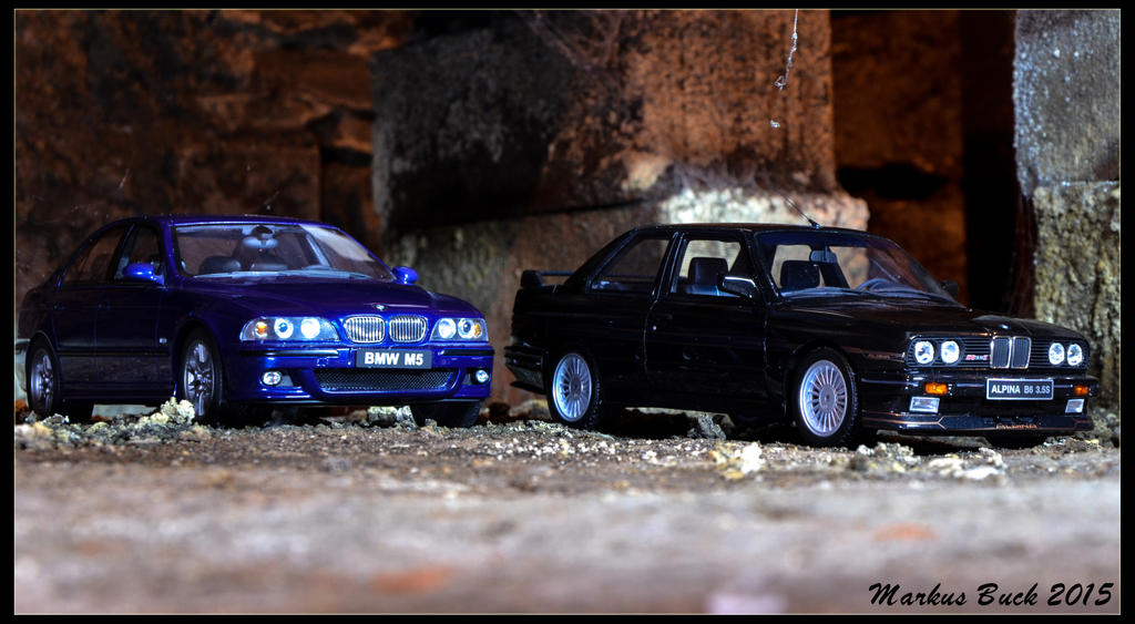 BMW E39 M5 + Alpina B6 3.5 S by HobbyFotograf
