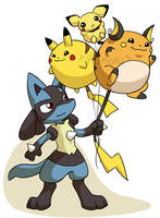 Pokemon Balloons by ChaosKomori