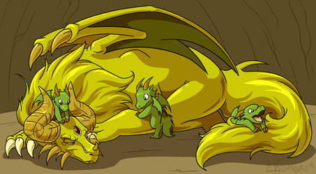 Commission- Golden Dragon