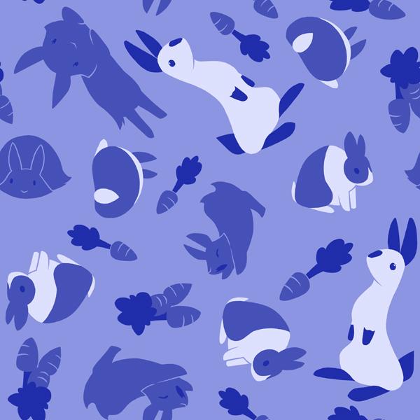 Bunny tile pattern by ChaosKomori