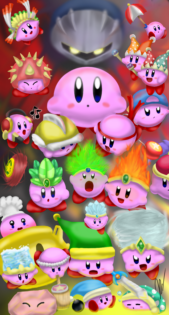 Kirby Ability Collage by EmilyKiwi