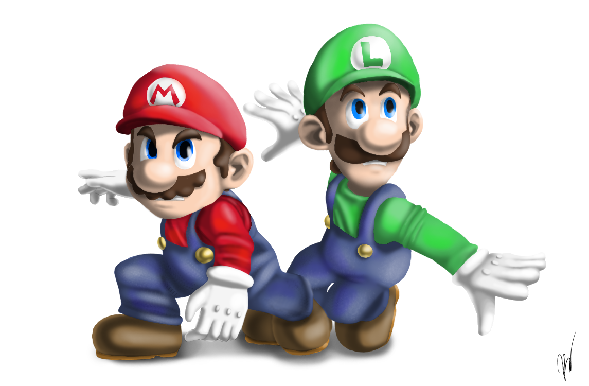 Mario and Luigi by EmilyKiwi on DeviantArt