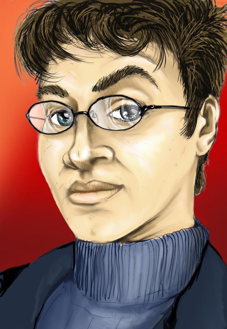 My colour self-portrait by BSylphir