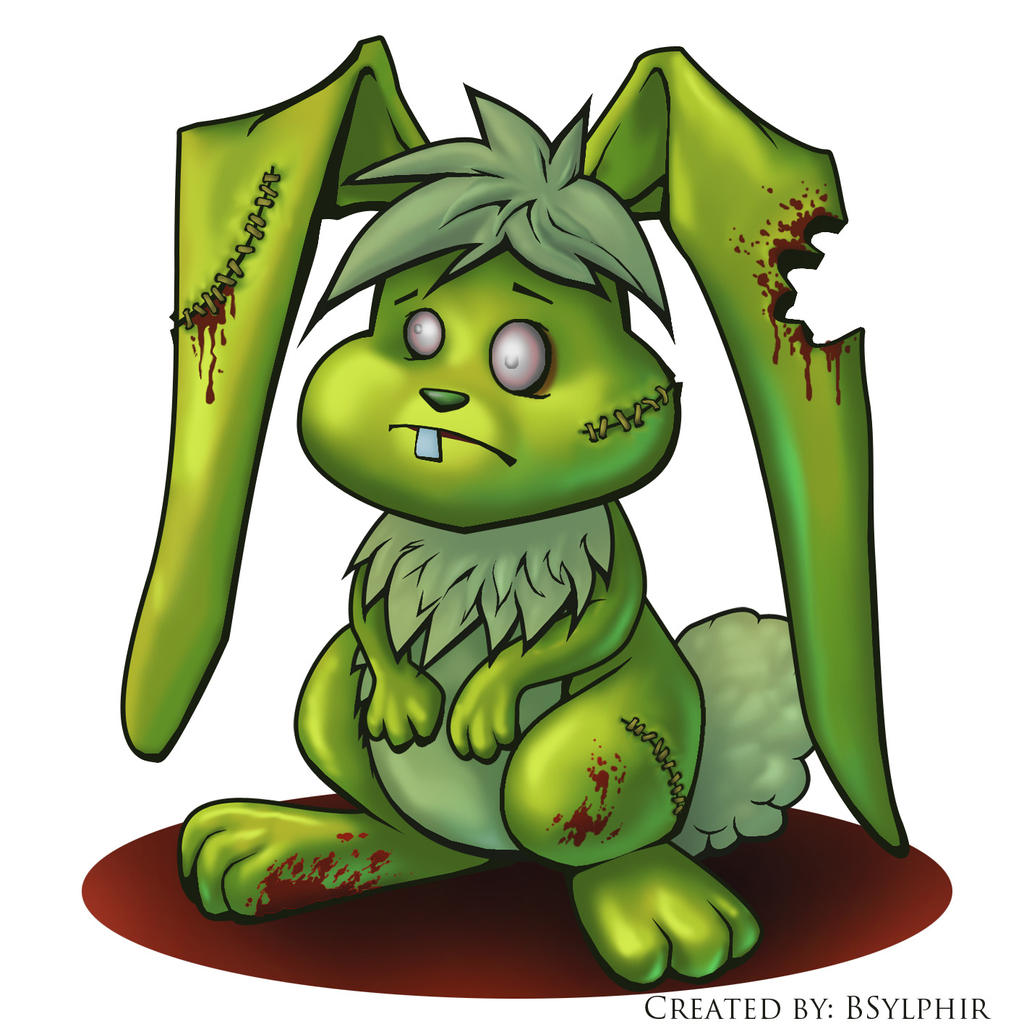 Zombie Bunny by BSylph...