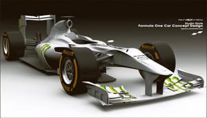 Mercedes F1 Car Concept Design * F3