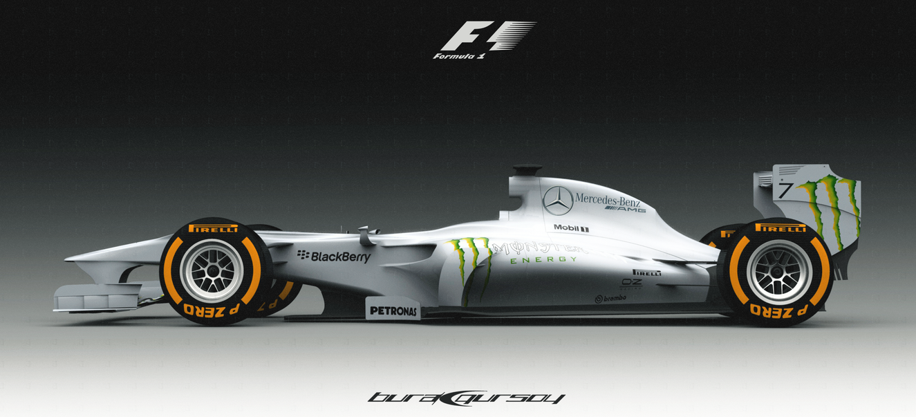 Mercedes F1 Car Concept Design * F5 by bgursoy
