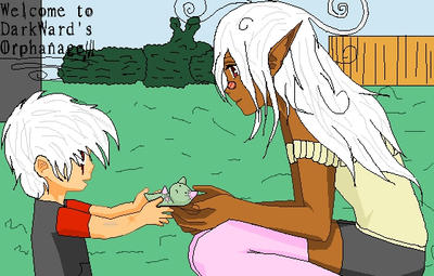 First Meating of Dante' and MoMo by zZLazyWolfZz