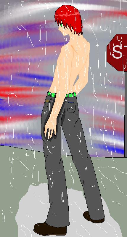 Regen Mochizuki in the rain by zZLazyWolfZz