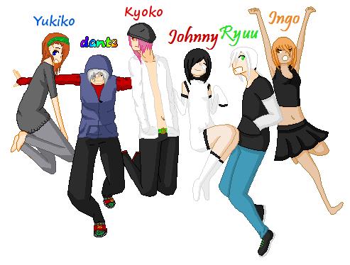 Jump with us!!! (Bleachcollab!) by zZLazyWolfZz