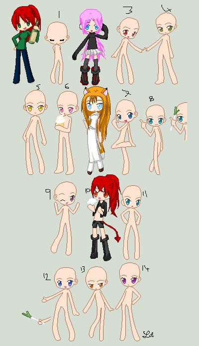 Another collab~: OC girls 2 by zZLazyWolfZz