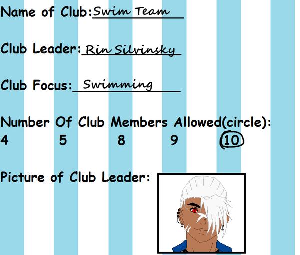 Swim Team Club! by zZLazyWolfZz