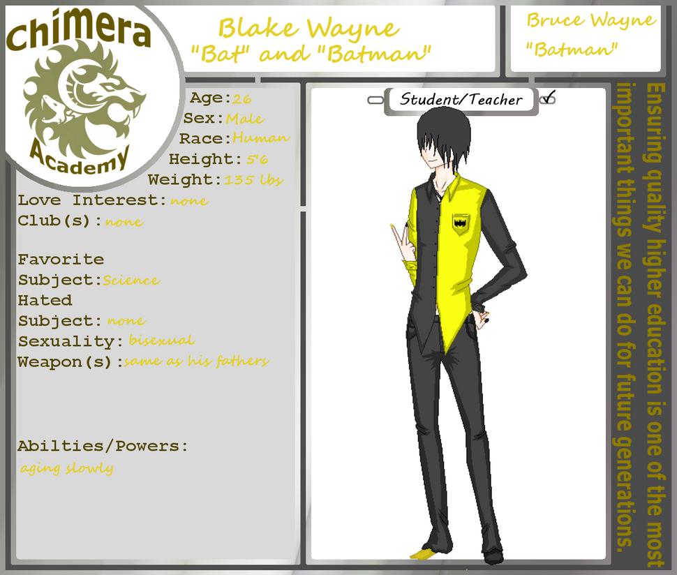Blake Wayne Chimera-Academy App by zZLazyWolfZz