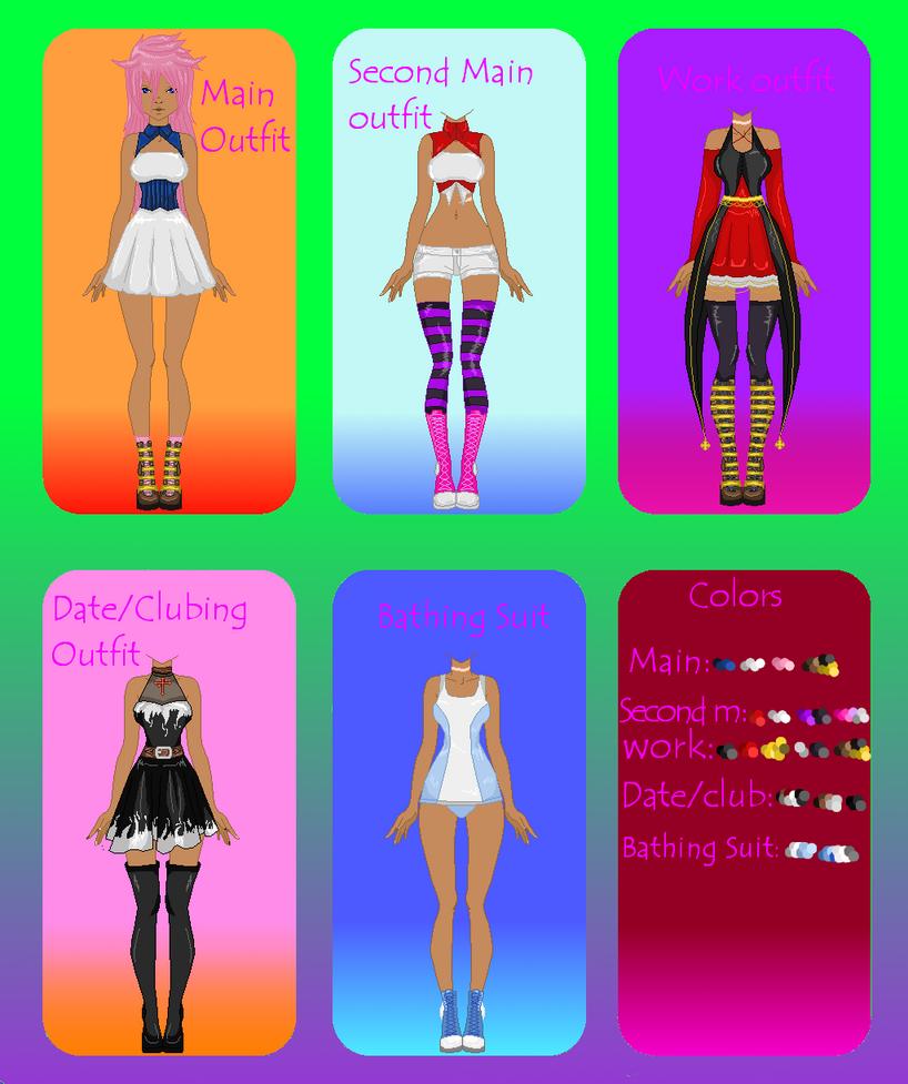  Elka Tomori's outfits  by zZLazyWolfZz