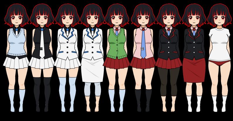 | Hidden Academy's girl uniforms | by zZLazyWolfZz