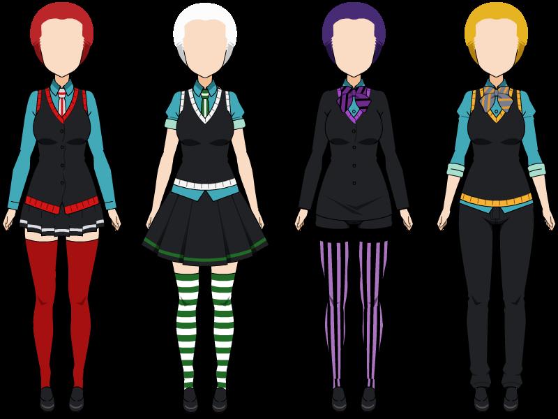 Girl Uniforms by zZLazyWolfZz