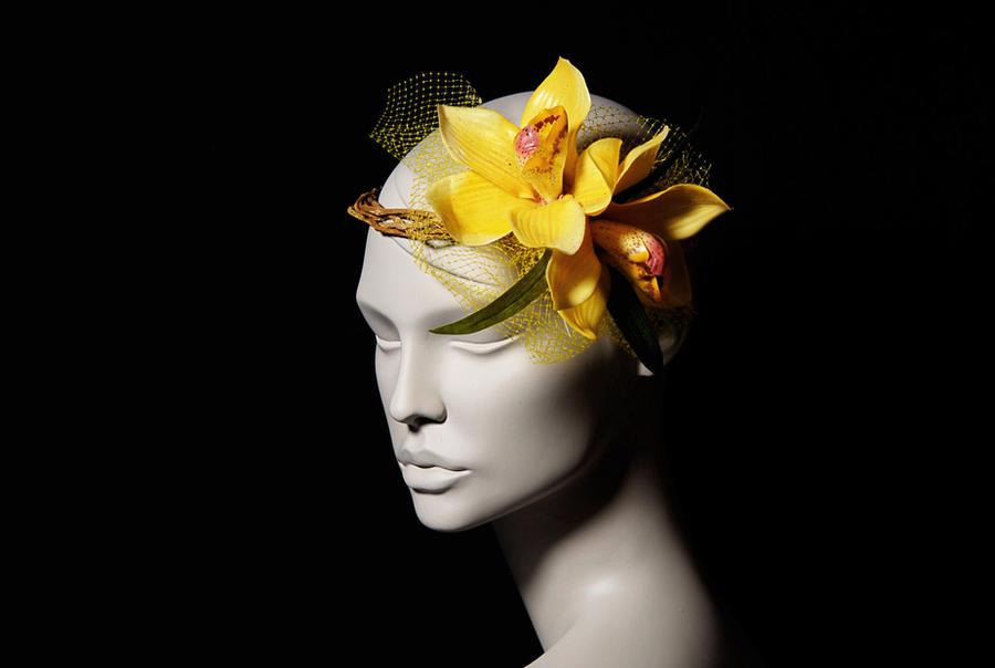 Barbara yellow orchid flower crown headpiece by wickedbyipek on barbara yellow orchid flower crown headpiece by wickedbyipek mightylinksfo