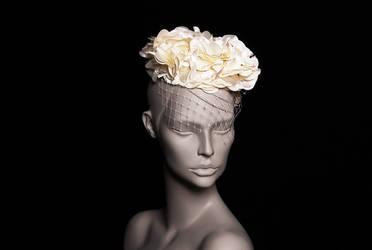 Diana / Bridal Frill Mini Hat by wickedbyipek