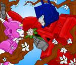 Elita one love Optimus Prime