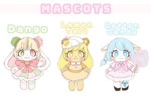 Dessert Mascots AUCTION [OPEN] by Mikafalala