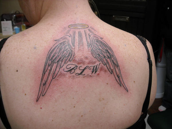angel wings and halo tattoo by ventisca seer on deviantart rh deviantart com angel with broken halo tattoo angel halo tattoo ideas
