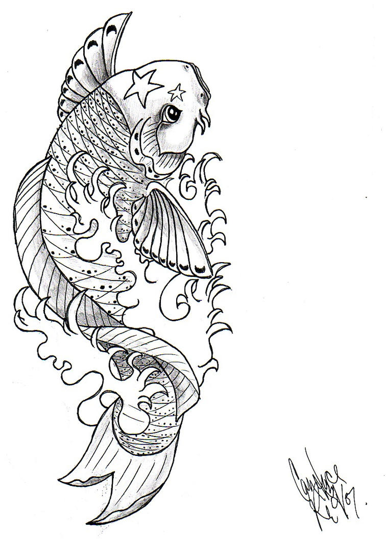 Line Drawing Koi Fish : Koi fish by ventisca seer on deviantart
