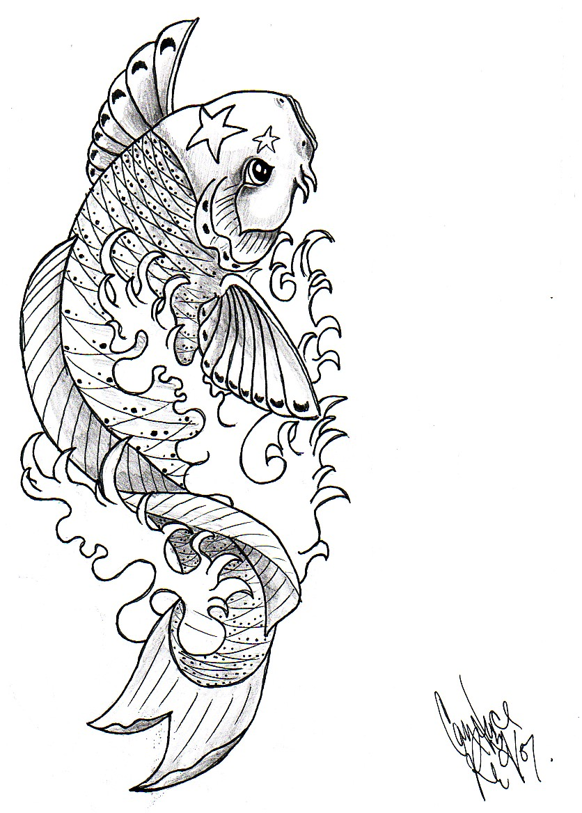 Koi fish by ventisca seer on deviantart for Koi fish drawings