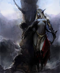 Dark elf by akizhao