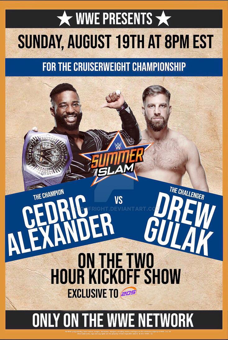 Cedric Alexander vs Drew Gulak by KegoFright