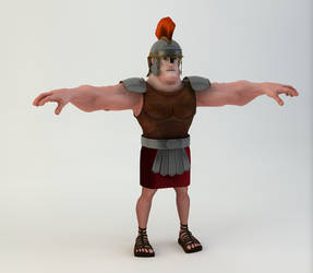 Rigged Roman Soldier