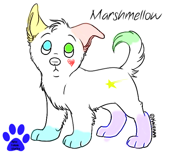 .::Mmmm I Taste Like Marshmellows::. w.i.p Marshmellow_pup_by_alphafemalestarfire-d67zptw