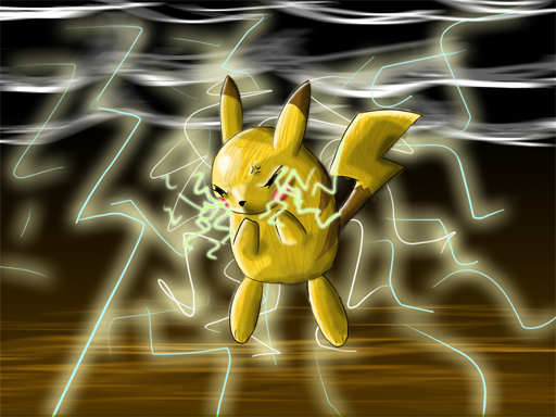 pikachu quick draw by FoxRichards
