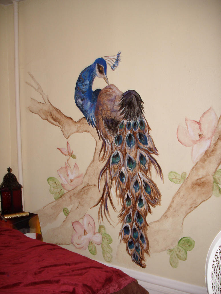Peacock Mural by poopsmith1 on DeviantArt