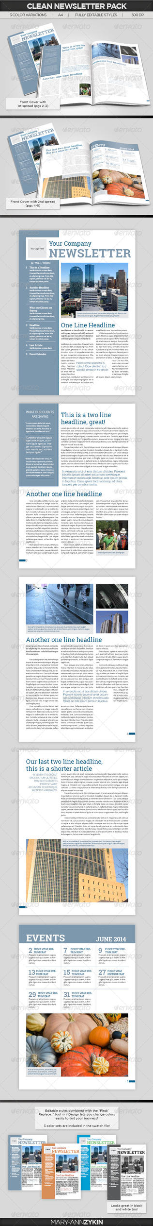 Clean Newsletter Template by FIRSTxAIDxKIT