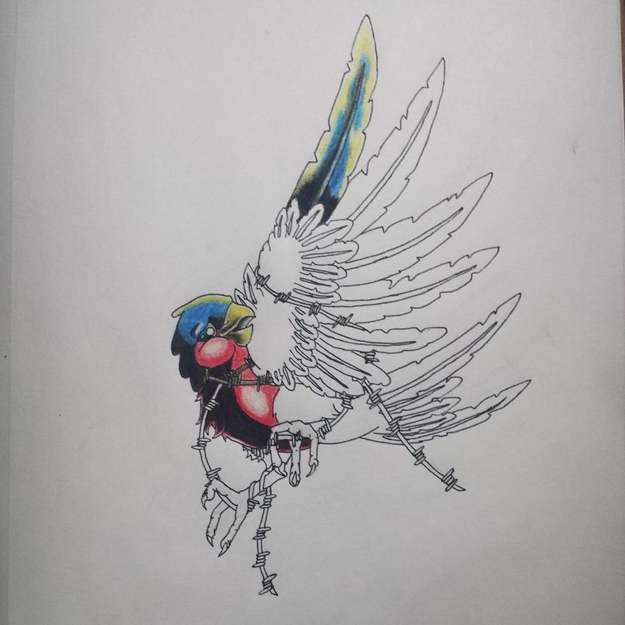 new school bird tattoo designs. Black Bedroom Furniture Sets. Home Design Ideas
