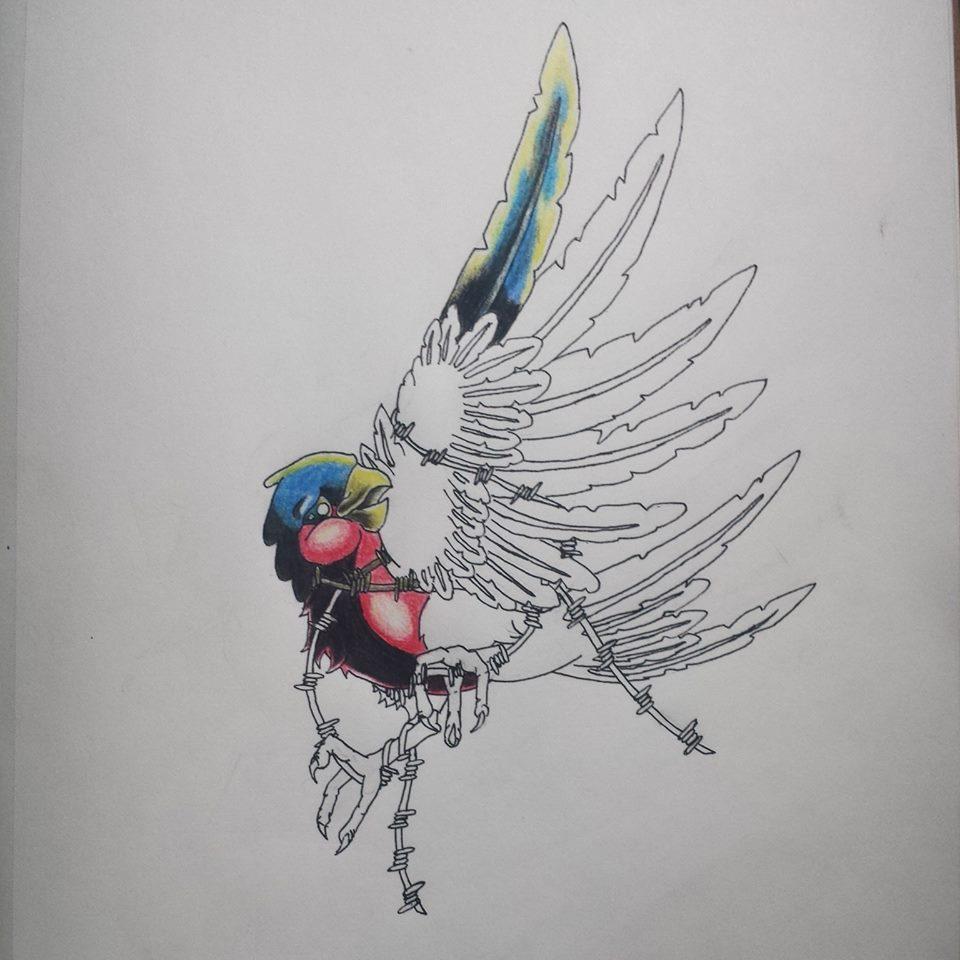 New school tattoo design -  1rst New School Tattoo Design By Asartwork