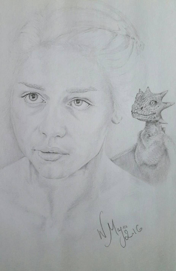 Daenerys and Drogon by WMageeART