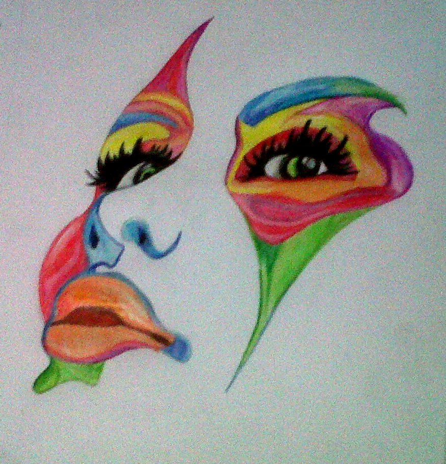 colorful face by samy2r on deviantart